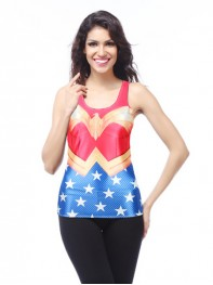 Newest Justice League Wonder Woman Fitting Vest Sports Drying Top