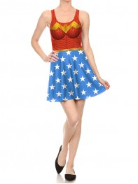 Woder Woman DC Superheroine One Piece Dress