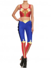 Wonder Woman DC Comics Fitting Vest Pants Running Sports Set