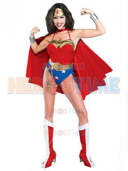 Sexy Wonder Woman Spandex Superhero Costume