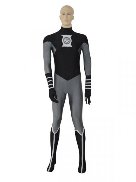Black Lantern Crops Spandex Superhero Costume