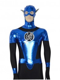 Inventory clearance - Blue Lantern Corps Shiny Superhero Costume