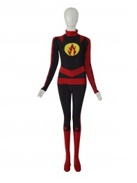 Custom Yellow Lantern Red Strong Man Superhero Costume