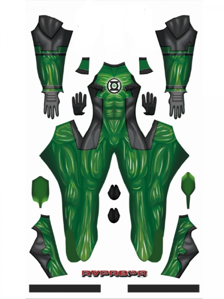 Deadpool Green Lantern Deadlantern DyeSub Printing Superhero Costume
