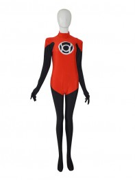 Inventory clearance-Red Lantern Corps DC Comics Superhero Costume
