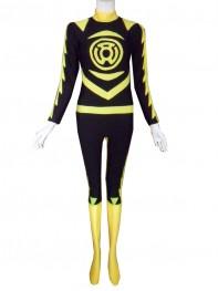Sinestro Corps Yellow Lantern Spandex Superhero Costume