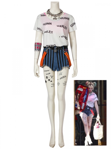 Birds of Prey Cosplay Harley Quinn Cosplay Costume