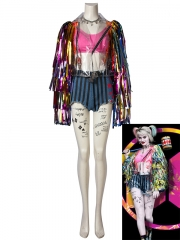 Harley Quinn Cosplay Costume Birds of Prey Cosplay Full Set