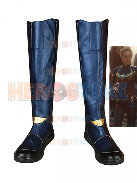 Avengers Endgame Captain Marvel Cosplay Boots