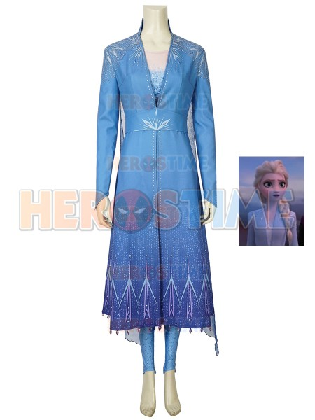 Elsa Costume Frozen 2 Halloween Cosplay Costume