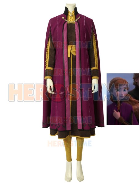 Anna Costume Frozen 2 Cosplay Costume