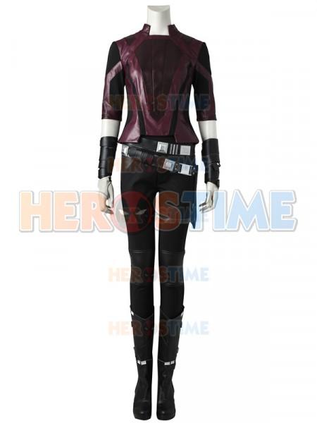 Guardianes de la Galaxia 2  Traje de Gamora Versión Corta Cosplay