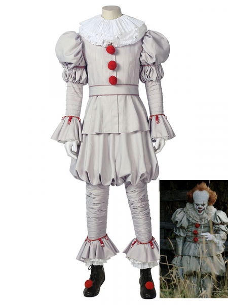 It Pennywise Costume IT capítulo dos el conjunto completo de Cosplay de Dancing Clown