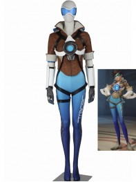 Game Overwatch Blue Tracer Lena Oxton Cosplay Suit