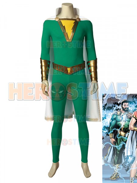 Pedro Shazam Family Captain Thunder High-end Cosplay Costume