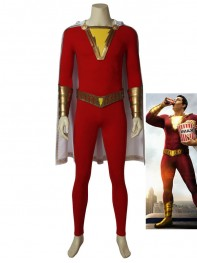 Shazam! Billy Batson Suit Captain Marvel Cosplay Costume