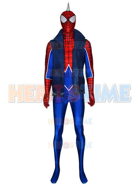 Punk-Rock Spider-man Suit Spider-Man PS4 Game Coplay Costume