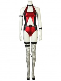 Lady Deadpool Suit Hollowed-out Sexy Deadpool Cosplay Costume