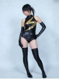 Black Ms-Marvel Shiny Metallic Superhero Costume