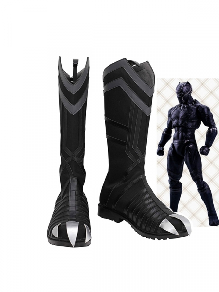 Black Panther Shoes Superhero Cosplay Boots