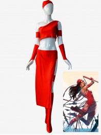Marvel Superhero Elektra Natchios Cosplay   Costume
