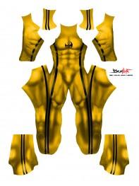 Iron Fist Bruce Lee Printed Costume
