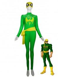 Iron Fist Green & Yellow Superhero Spandex Costume