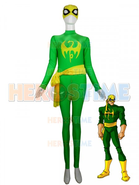 Iron Fist Green & Yellow Superhero Spandex Costume