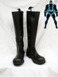 Black Bolt Artificial Leather Superhero Boots