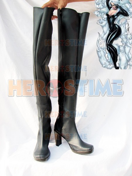 Black Cat Female Black Superhero Boots