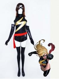 Ms-Marvel Shiny Metallic Superhero Costume