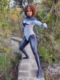 Cosplay de superhéroe WandaVision Monica Rambeau Disfraz de adulto y niño