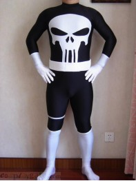 Marvel Comics Punisher Spandex Superhero Costume