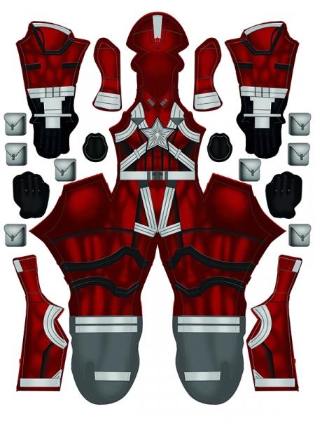 Disfraz de Cosplay de Black Widow Red Guardian Movie Version