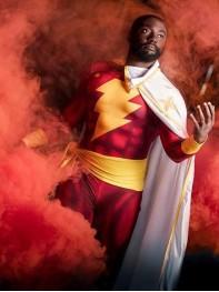 Captain-Marvel Shazam Printed Superhero Costume