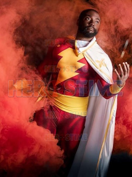 Captain-Marvel Shazam Printed Superhero Costume