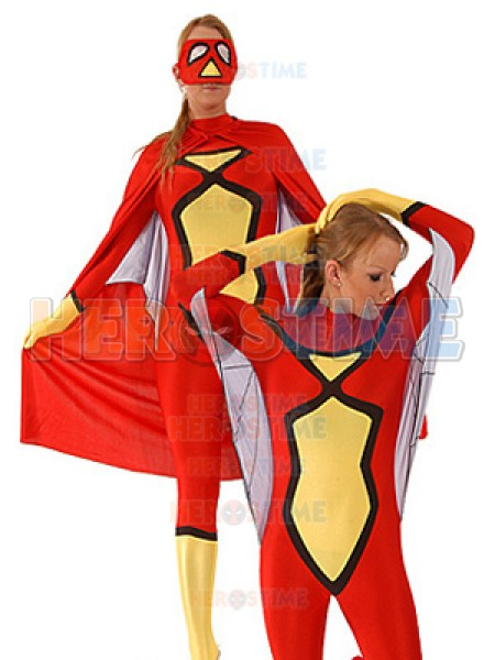 Spider-Woman Spandex Superhero Costume With cape