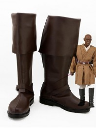 Star Wars Mace Windu Brown Cosplay Boots
