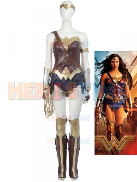 2017 Wonder Woman Traje de Wonder Woman de Versión Cinematográfica Cosplay