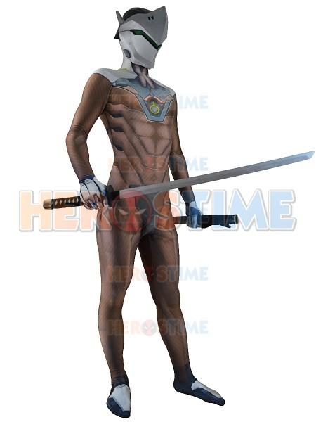 Overwatch Genji Costume 3D Print Genji Cosplay Suit