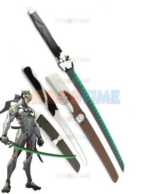 Overwatch Genji Shimada Wooden Sabre Cosplay Swords