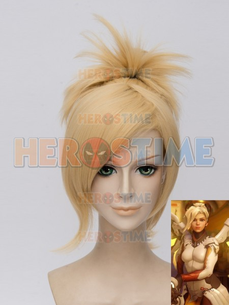 Overwatch Mercy Angela Ziegler Girls Cosplay Wig