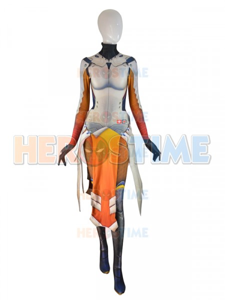 Overwatch  Traje de Mercy en Armored W Strips Cosplay