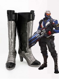 Overwatch Costume Soldier: 76 Female Player Cosplay Boots