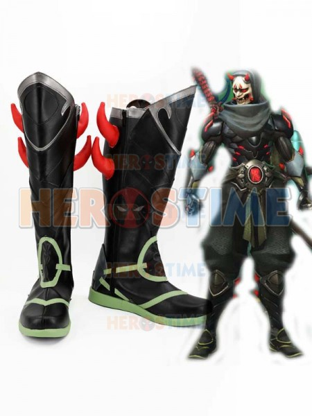 Hot Shooting Game Genji Oni Skin Cosplay Boots