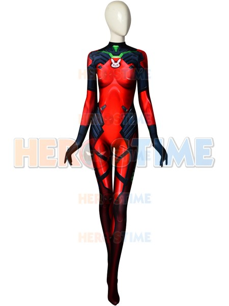 Overwatch Fiery D.Va Printed Costume