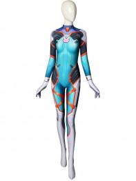 Overwatch D.Va Tangerine Skin Printed Costume