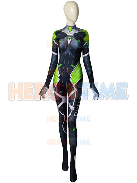 Overwatch D.Va Costume D.Va Outlaws Printed Costume