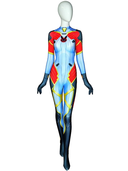 Overwatch D.Va Carbon Fiber Skin Printed Cosplay Costume