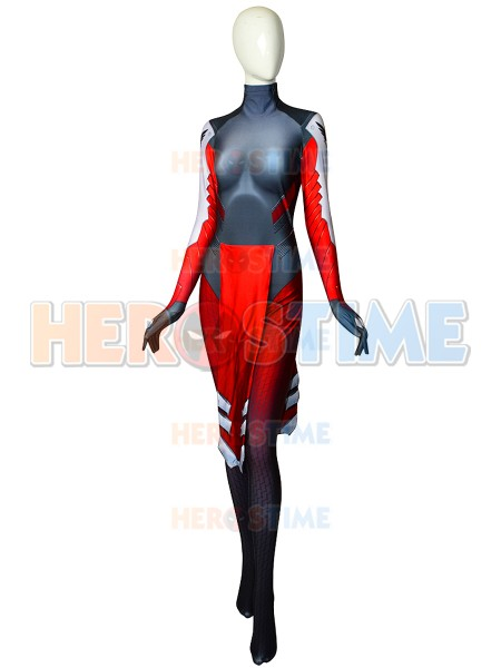Overwatch Mercy Suit Mercy Red Skin Cosplay Costume